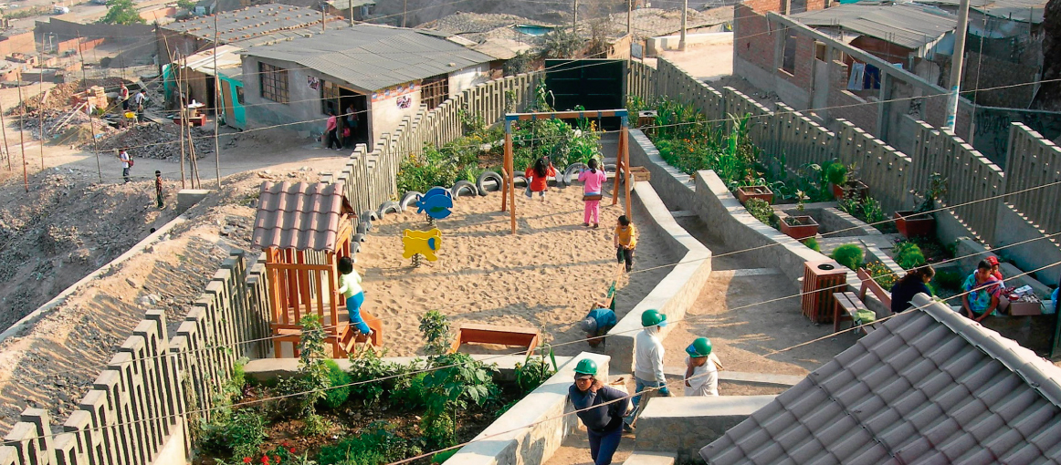 Improving the living conditions of the inhabitants of a marginal urban area